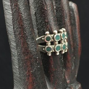 Vintage Jewelry - Vintage Zuni Turquoise Sterling Silver Ring